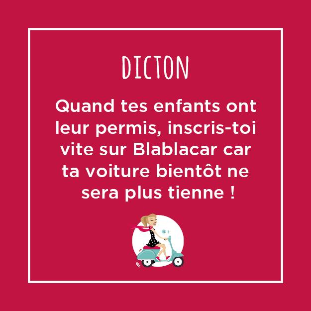 Quand tes enfants ont leur permis, inscrit-toi vite sur BlablaCar car bientôt ta voiture ne sera plus tienne !