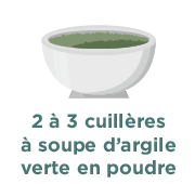 2 à 3 cuillères à soupe d'argile verte en poudre