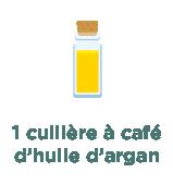 1 cuillère à café d'huile d'argan