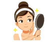 Illustration d'une Femme avec son Miroir