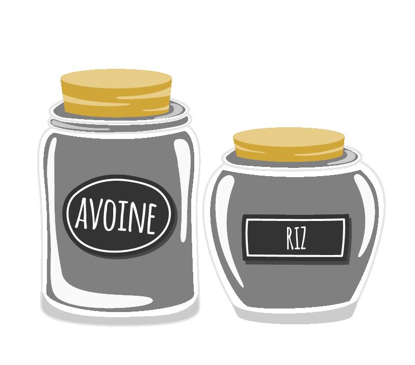 Zéro Déchet - On adopte des contenants en verre - Ilustration de bocaux