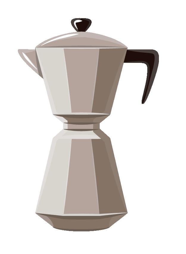 Zéro Déchet - On adopte une cafetière à l'italienne - Illustration d'une cafetière