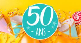 Organiser sa fête des 50 ans - Photo d'objets de fête d'anniversaire