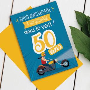 Carte anniversaire 50 ans Homme - Modèle Quinqua Super-Héros
