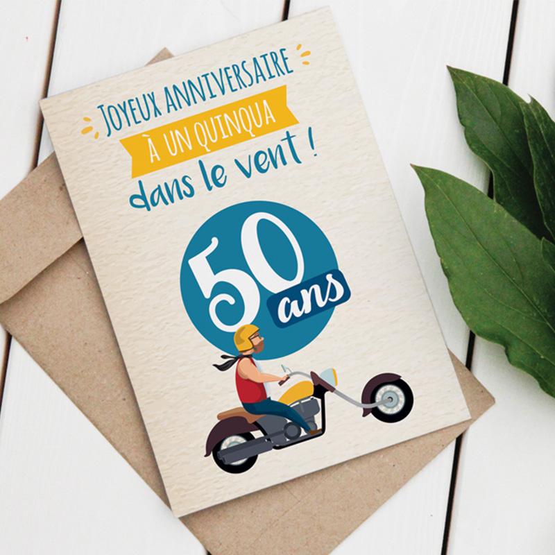 Carte Vegetale A Planter Homme 50 Ans La Quinquashop