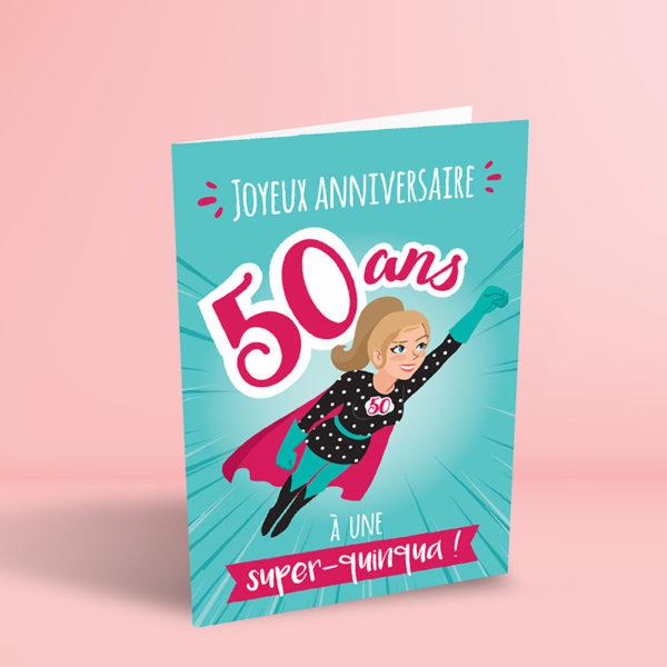 Visuel du produit Carte Anniversaire 50 Ans Femme Super Quinqua