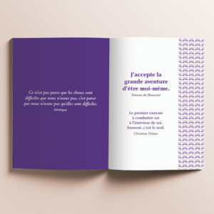 Livre Petits messages pour croire en soi - Photo de l'intérieur du livre - quelques pages de citations