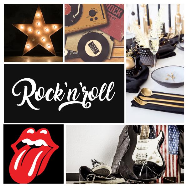 Thème anniversaire Rock'n'roll pour fêter 50 ans