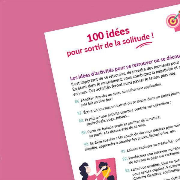 Sortir de la solitude - Le guide complet - Aperçu de l'intérieur - Page 100 idées