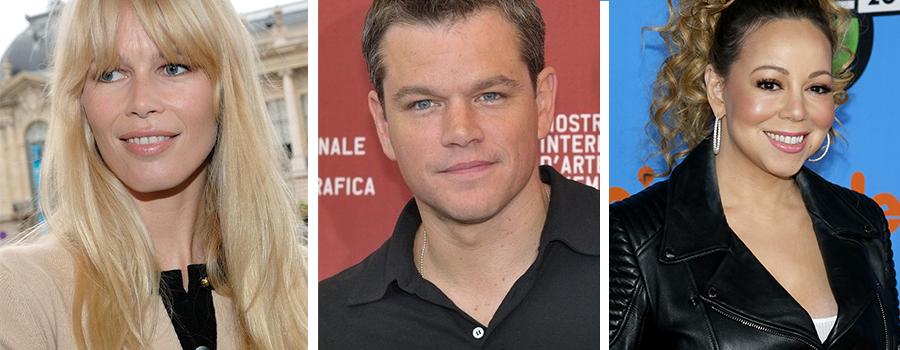 Les stars et célébrités qui auront 50 ans en 2020 - Photo de Mathh Daemon, Claudia Schiffer et Mariah Carey