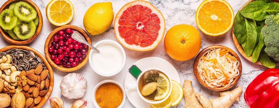Booster son immunité - Photo de fruits et légumes bons pour la santé