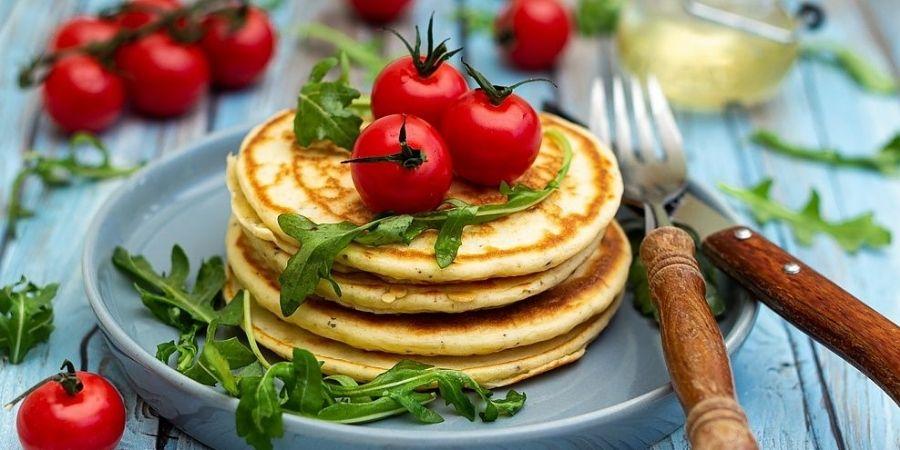 pancakes ricotta tomates