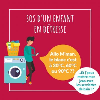 Post ou Citation 50 ans - Ado en détresse pour laver le linge seul chez lui