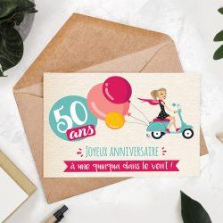 Photo de la Carte végétale à planter spéciale 50 ans femme !
